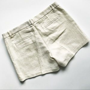 Banana Republic Shorts - BANANA REPUBLIC Metallic Gold / Cream Clean Shorts